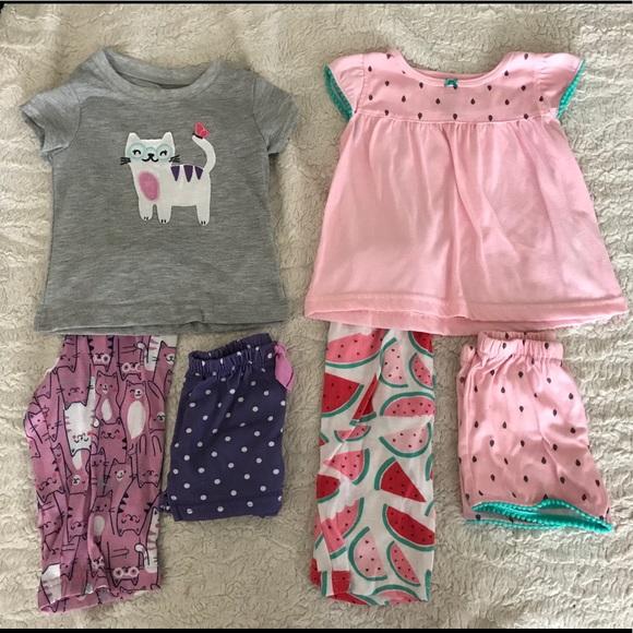 Sleepwear Nice Nwt Baby Girl Carters 3pc Pajama Set Size 12m